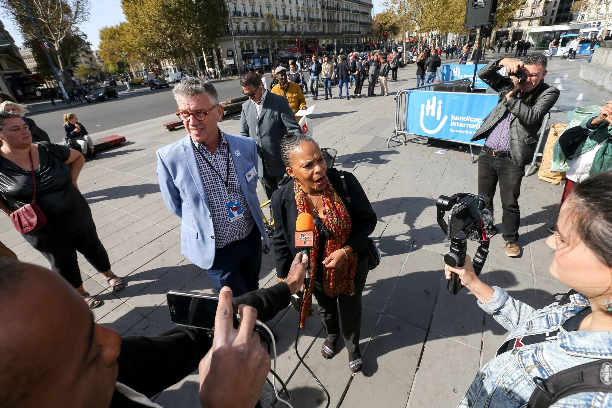 Christiane Taubira soutient Handicap International. © Michel Stoupak. Sam 29.09.2018, 12h36m36.