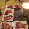 Saumon gravlax betterave et agrumes