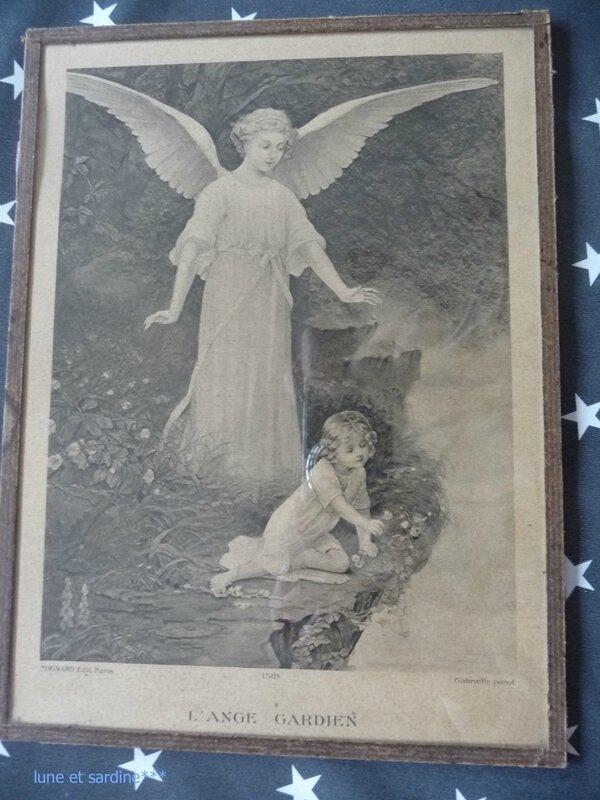 Ange gardien gravure