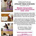 Stage vacances d'octobre : atelier yoga et encre de chine