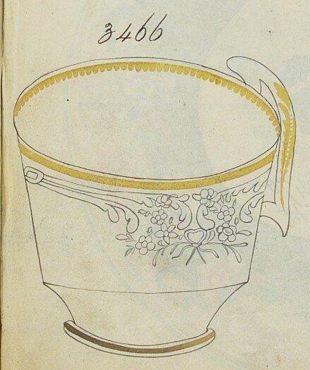 2. Registre des décors montrant le décor 3466, Spode Museum Trus