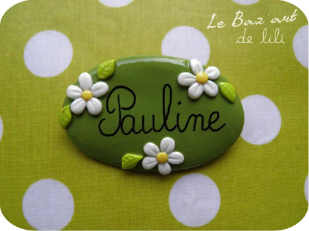 Badge pâquerettes