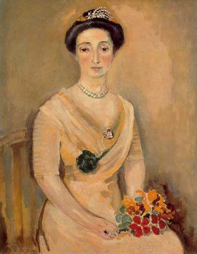 La_baronne_D_avec_un_bouquet_de_fleurs_1925_1930_de_Kees_van_Dongen