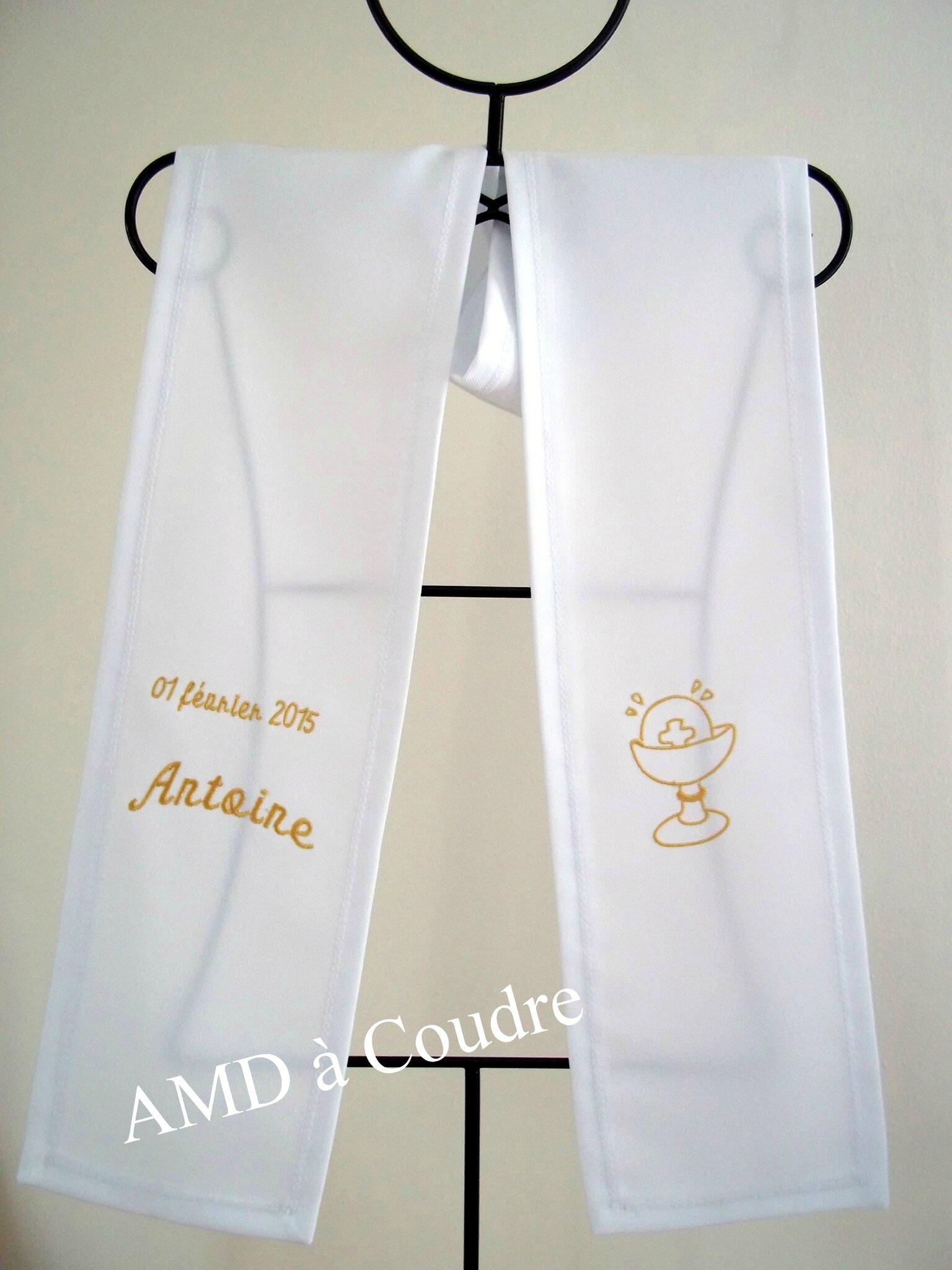 echarpe de communion polyester personnalisée par amd a coudre (6)