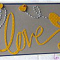 carte porte-billet love avec broderie
