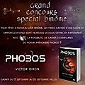 [résultats concours binôme] gagnez 3 exemplaires de phobos de victor dixen!