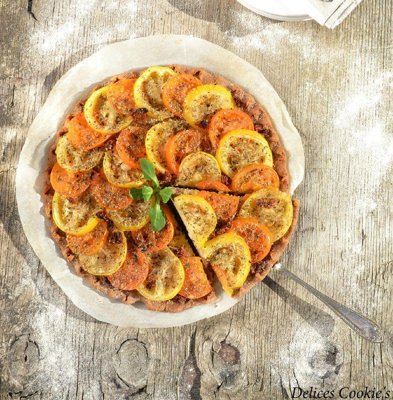 tarte tomates moutarde IG bas pois chiches
