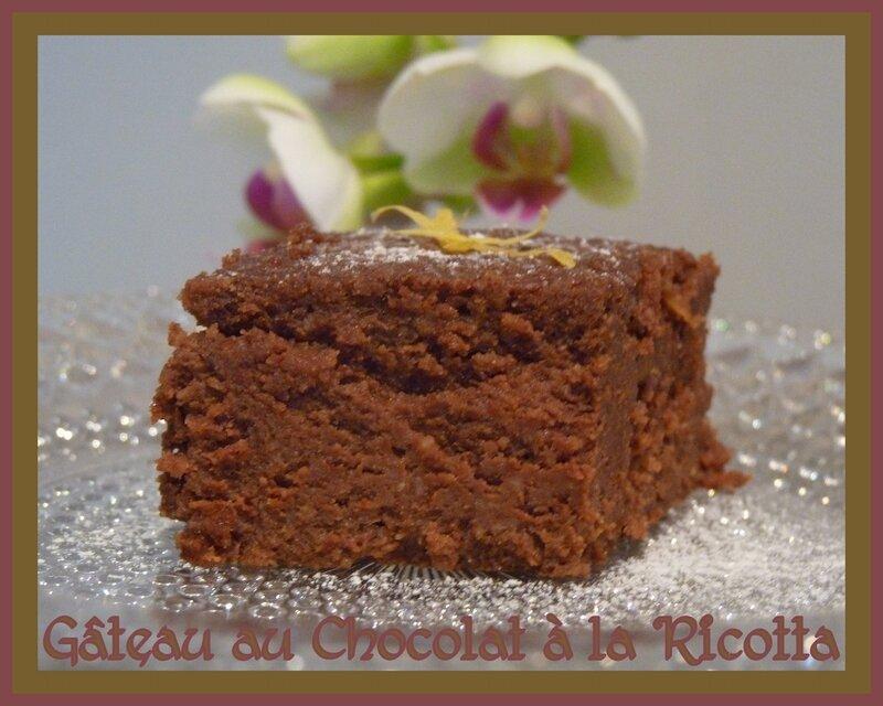 Gâteau au chocolat à la ricotta