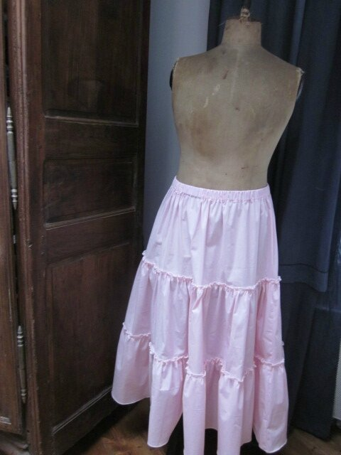 Jupon CLEMENTINE en coton rose (1)