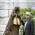 Italian artist giuseppe penone installs new sculptures in rijksmuseum gardens
