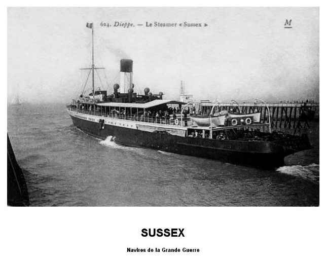 Sussex navire GG
