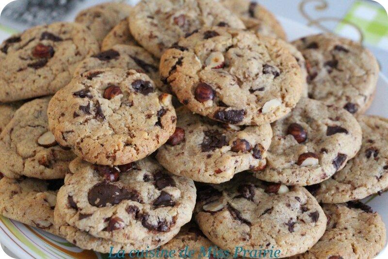 Cookies chocolat-noisette
