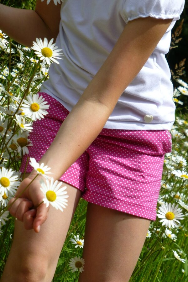 mini short à mini pois