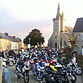 280 motards sur les places du bourg