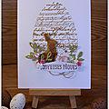 Un lapin, des oeufs ... une carte pour pâques !