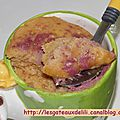 Mug cake au beurre de cacahuète
