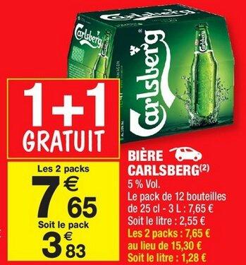 Carrefour Market - Carlsberg du 12 au 24 juillet 2016