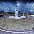 Rond-point à fenais da luz (portugal)