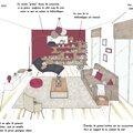 Projet client: mur prune dans un séjour lumineux