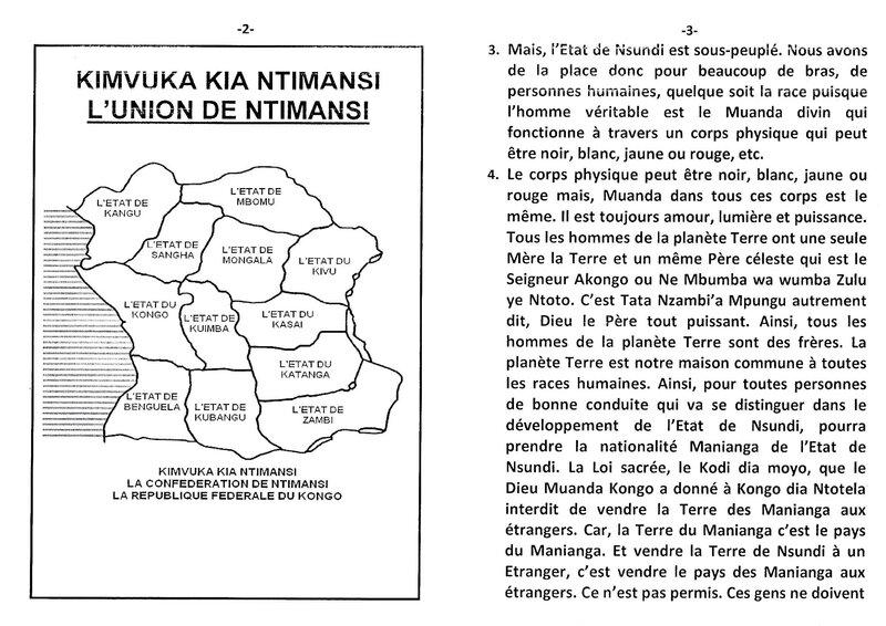 PRENDRE LA NATIONALITE MANIANGA DANS L'ETAT DE NSUNDI b