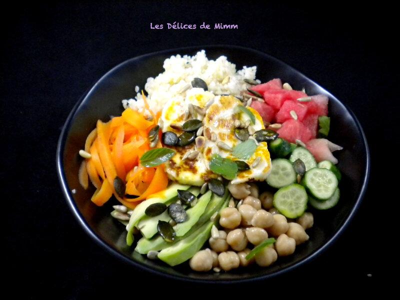 Buddha bowl au halloumi grillé 2