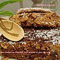 Cake fondant au chocolat, mascarpone et noix de coco