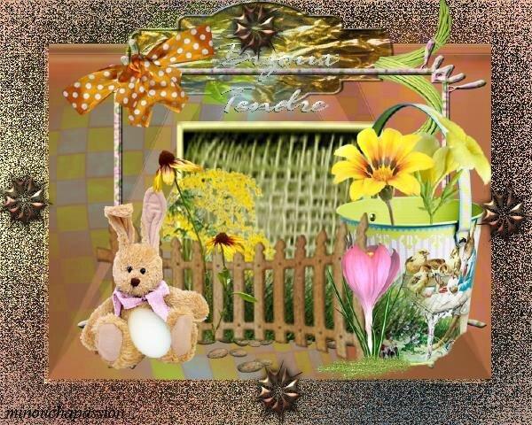 Cartes de pâques création minouchapassion