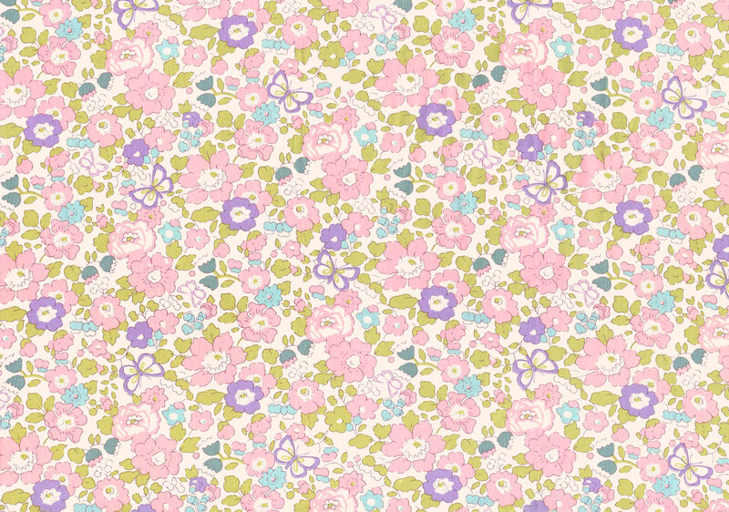 Liberty Tana Lawn Alice Caroline Exclusive Betsy Butterfly Blossom