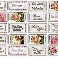 Etiquettes Saint Valentin
