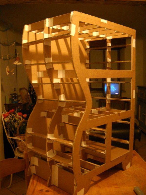 les diff rentes tapes pour construire un meuble en carton cartonissimo. Black Bedroom Furniture Sets. Home Design Ideas