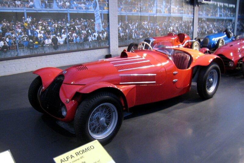 Alfa romeo 12C biplace course de 1938 (Cité de l'Automobile Collection Schlumpf à Mulhouse) 01