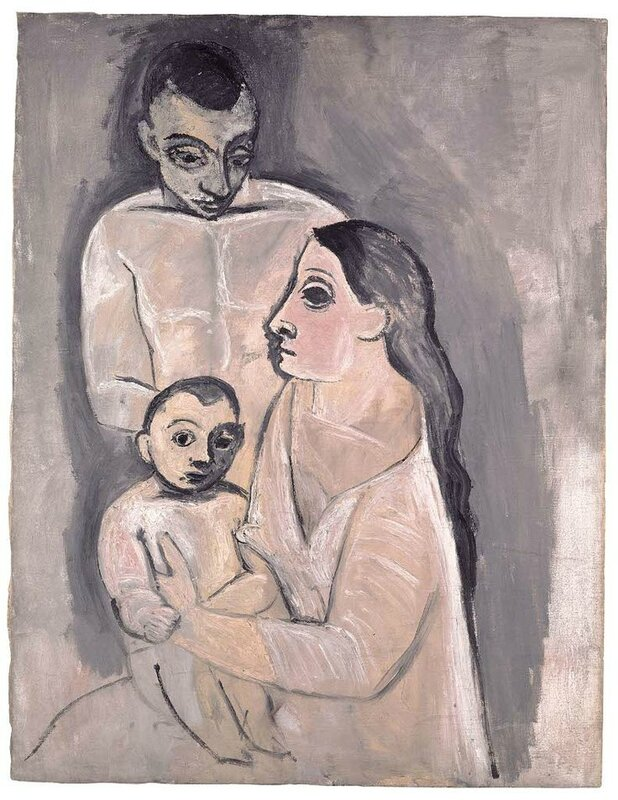 Pablo Picasso, Man, Woman and Child, Autumn of 1906