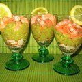 Verrine avocat, saumon