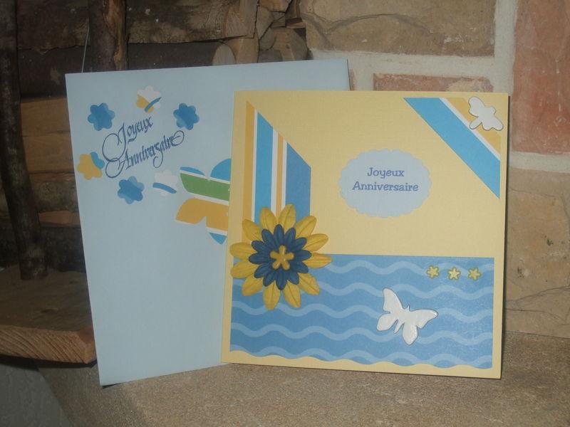 Carte + enveloppe anniv Fanfan-Carobalou 2009