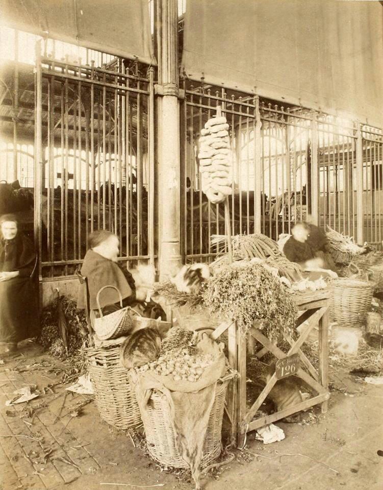 Les Halles , octobre 1900 par Atget