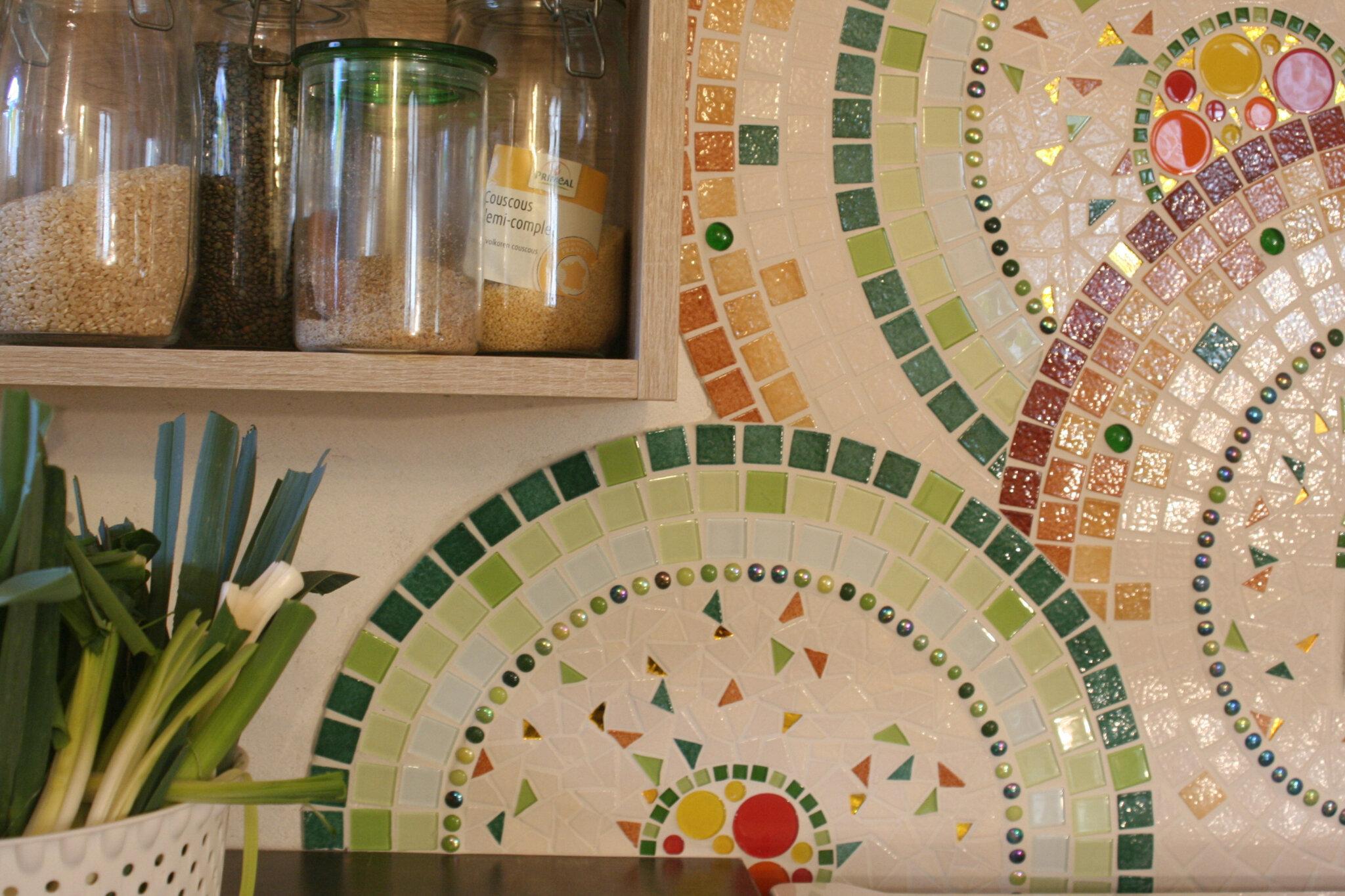 Crédence Originale Pour Cuisine crédence de cuisine - florence olmi, mosaïque d'art à