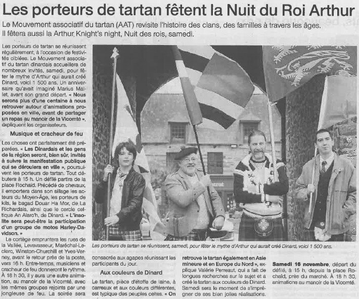 ouest france - Arthur's knight night