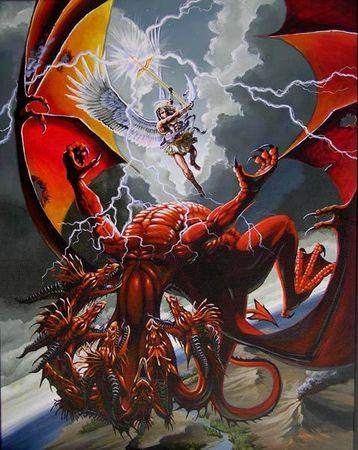 dragon rouge de l'apocalypse