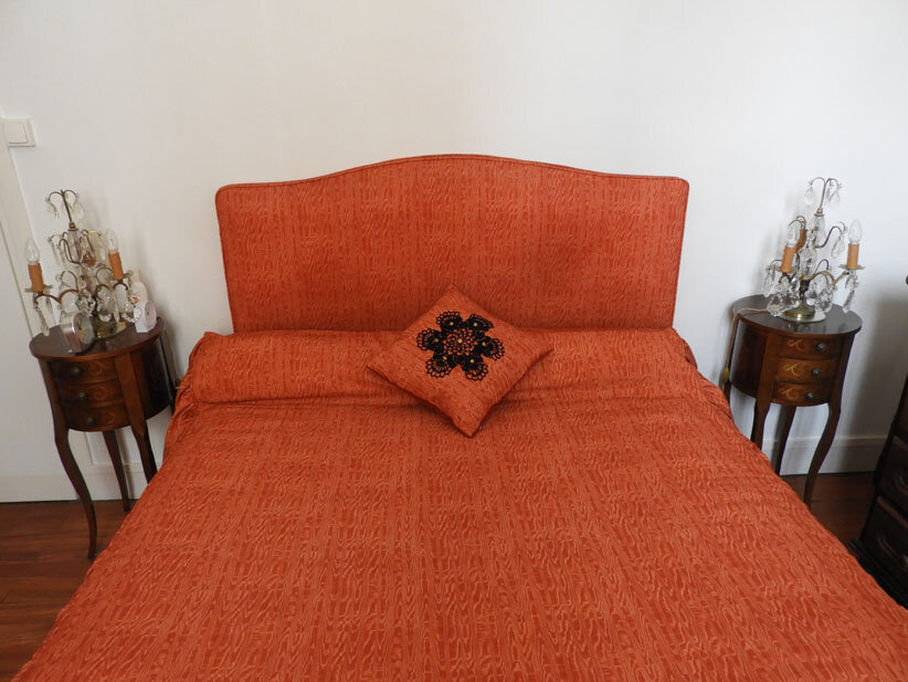 coussin Catherine orange 14