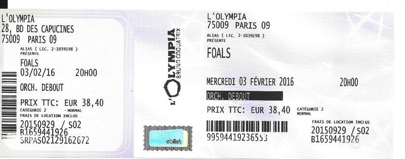 2016 02 Foals Olympia Billet