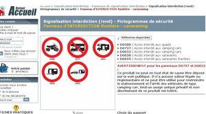CAMPING-CAR interdit d'interdire
