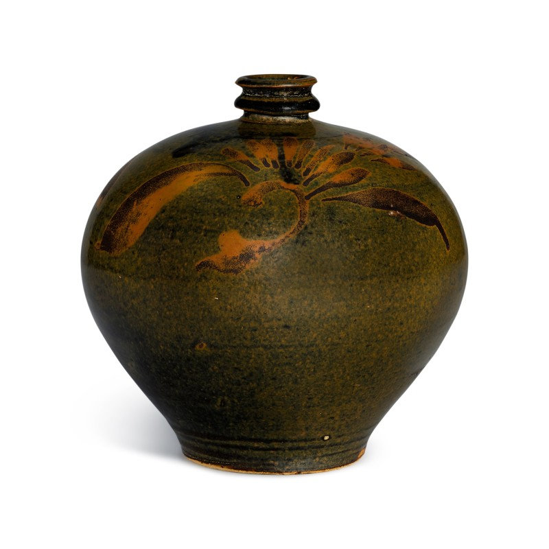 A russet-painted black-glazed jar Northern Song - Jin dynasty
