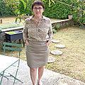 Une jupe sandrine en toile écrue