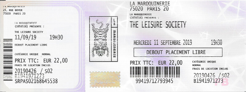 2019 09 11 The Leisure Society Maroquinerie Billet