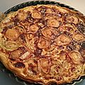 Quiche courgette chevre