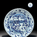 Ming dynasty blue and white sold at christie's new york, 26 march 2010