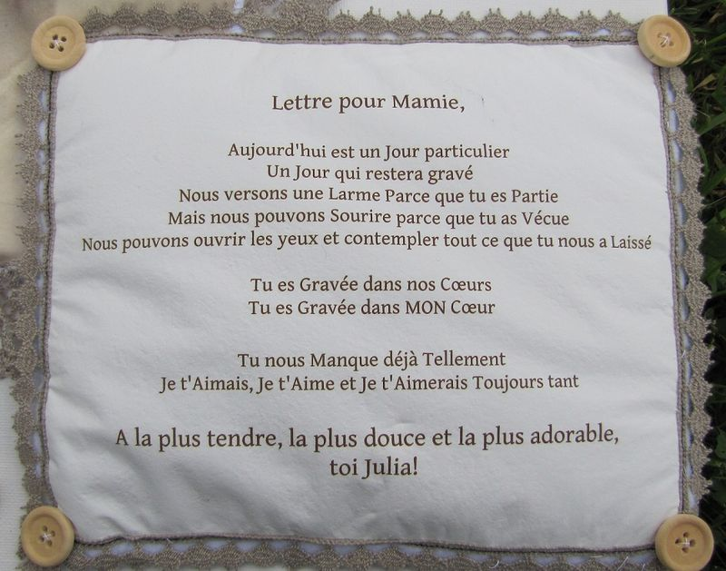 Proverbe Damour Pour Sa Maman Hommage A Ma Grand Mere Decedee