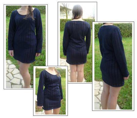 Robe pull bleu marine Mag