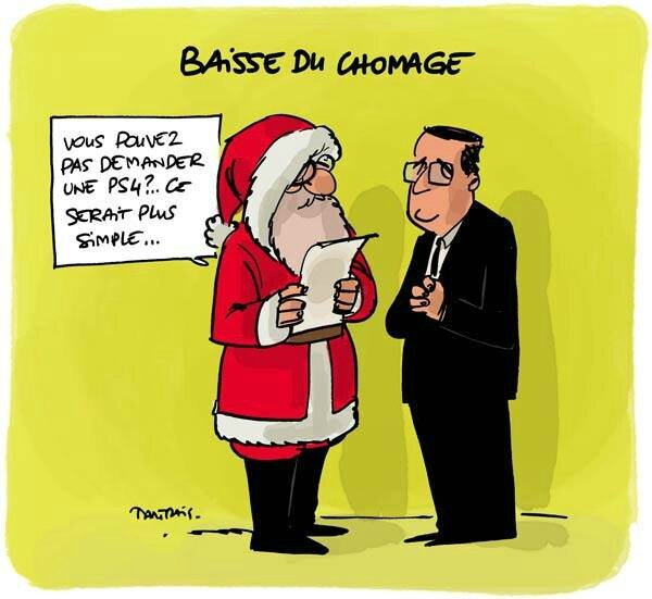ps hollande humour chomage pere noel