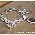 Bracelet grains de café croix occitane médailles-1